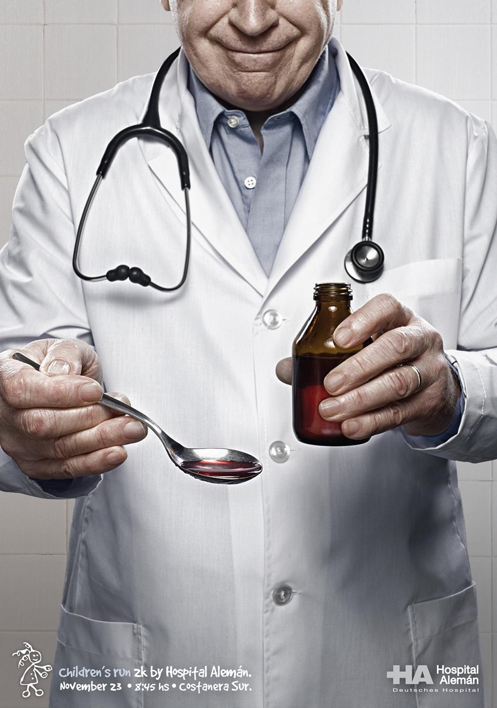 Hospital Aleman Print Ad -  Doctor