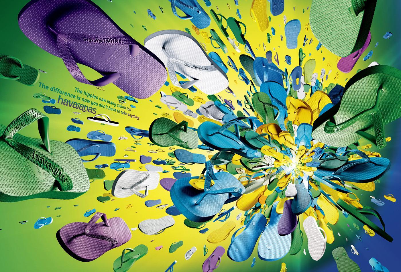 Havaianas Print Ad -  Big Bang, Lime