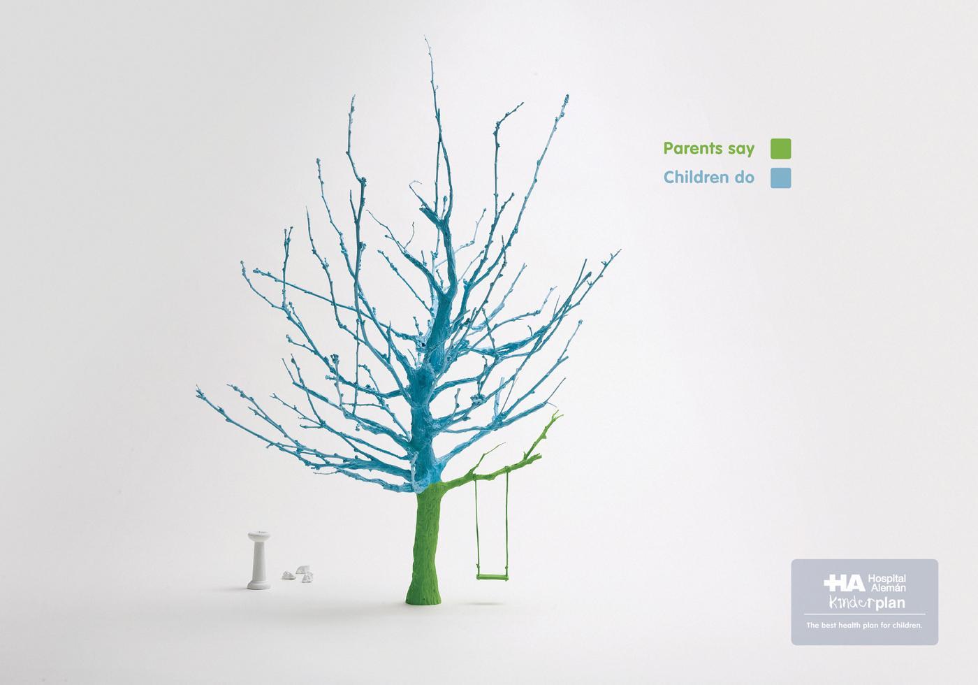 Hospital Aleman Print Ad -  Tree