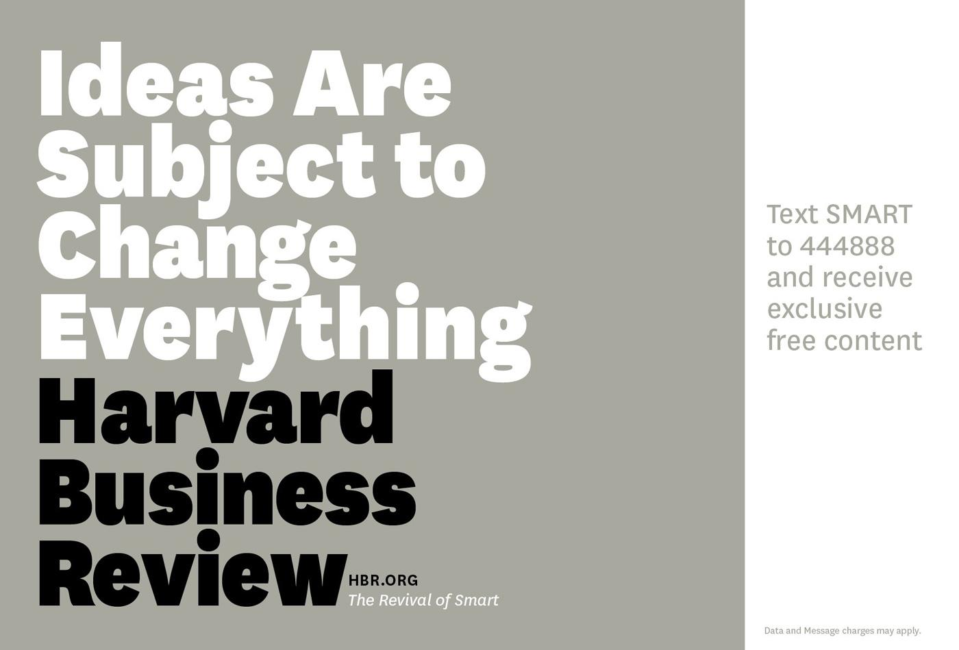 Harvard Business Review Outdoor Ad -  Ideas