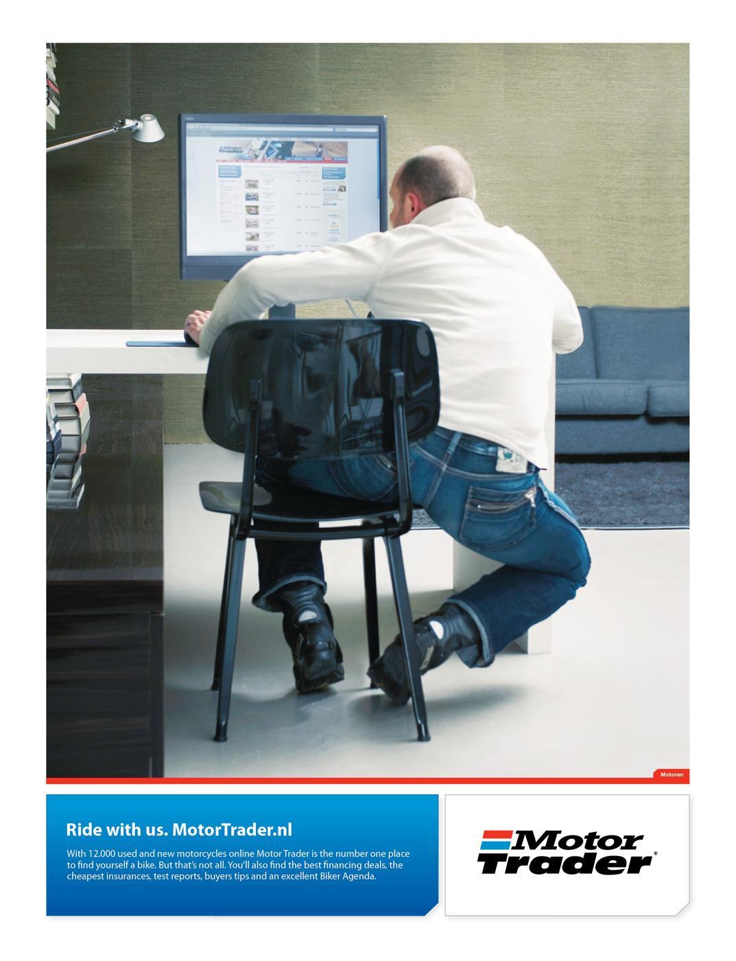 Motor Trader Print Ad -  Biker