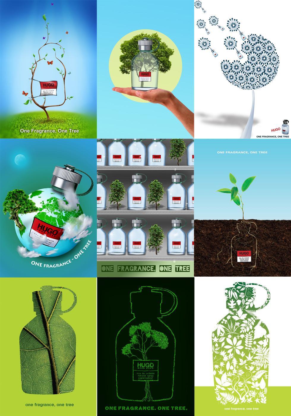 Hugo Boss Digital Ad -  One Fragrance, One Tree