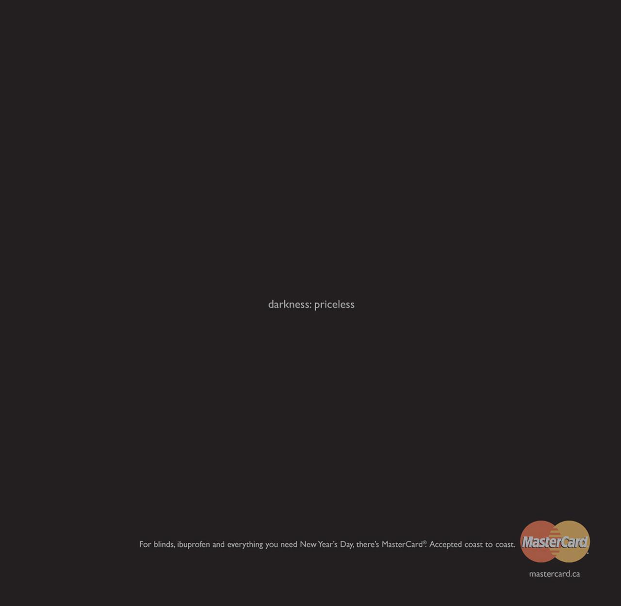 MasterCard Print Ad -  Darkness
