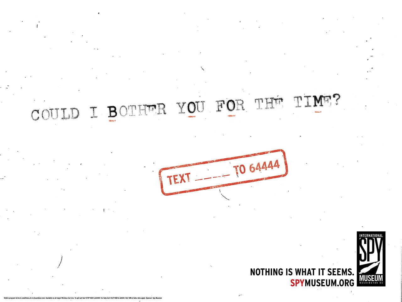 International Spy Museum Print Ad -  Hidden Messages, Boom
