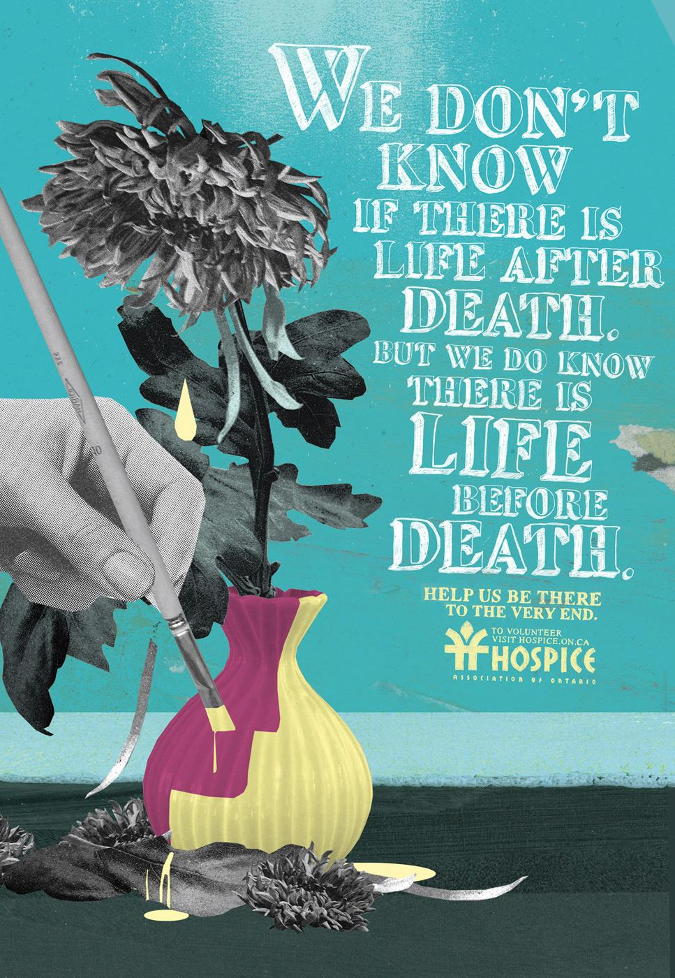 Hospice Print Ad -  Life after death