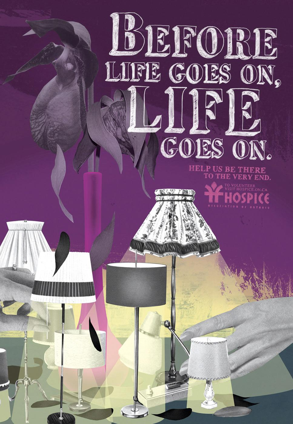 Hospice Print Ad -  Life goes on