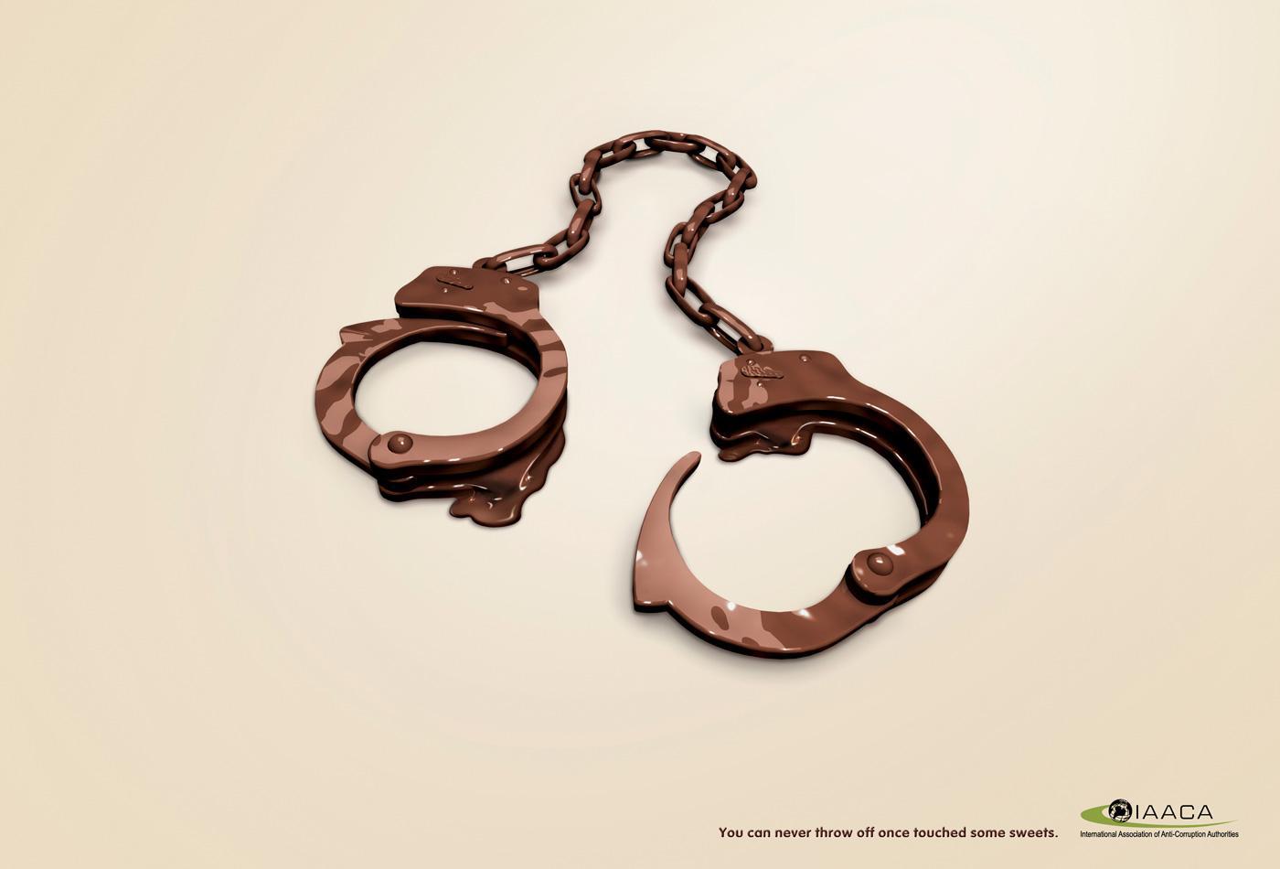 IAACA Print Ad -  Handcuffs