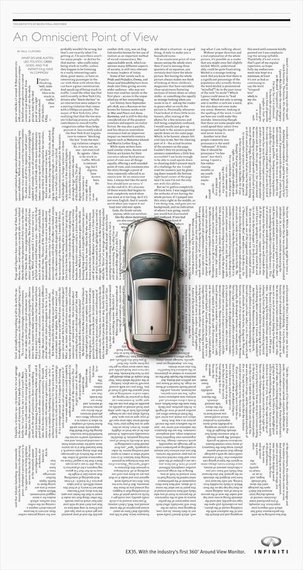 Infiniti Print Advert By TBWA: 360 | Ads of the World™