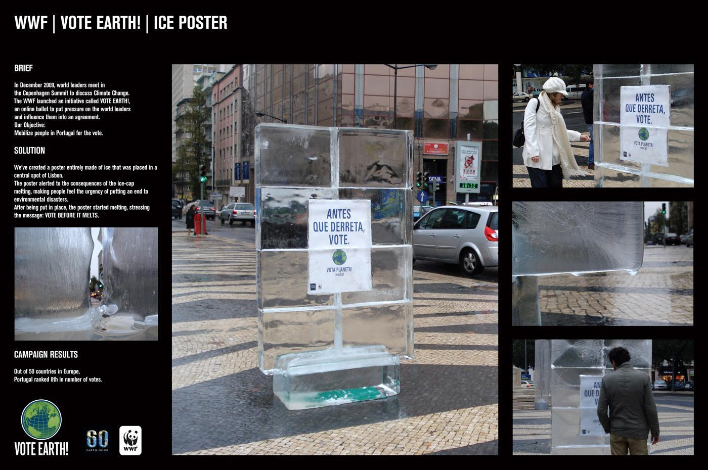 WWF Print Ad -  Ice Poster