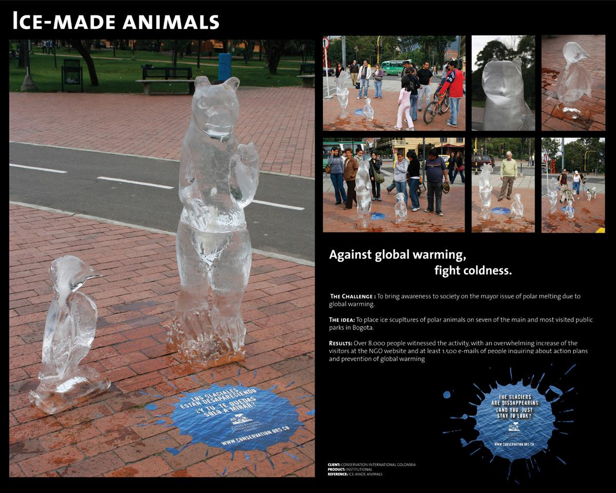 Conservation International Ambient Ad -  Ice Made Animals