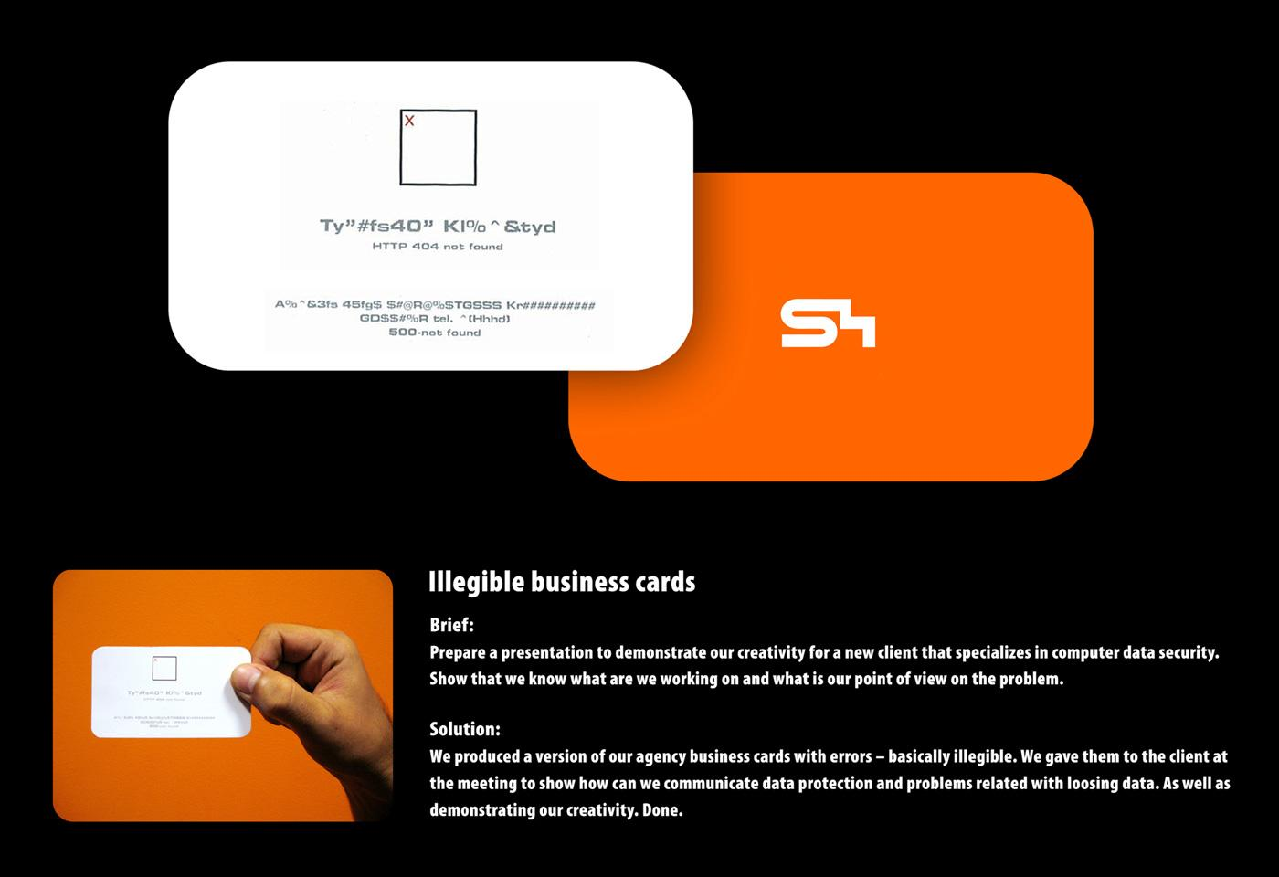 S4 Direct Ad -  Illegible business cards