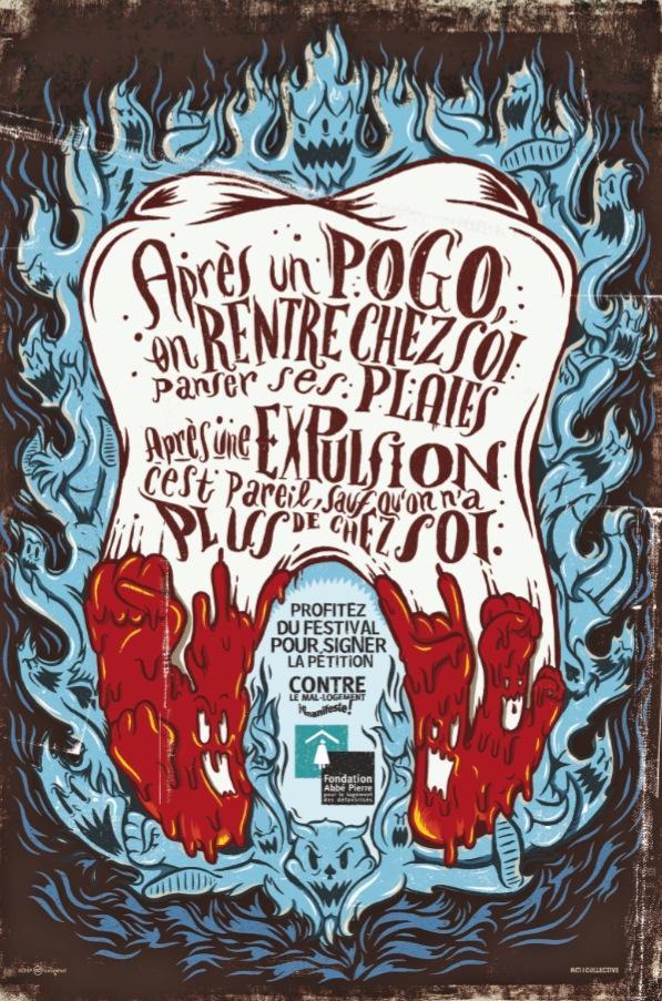 Fondation Abbé Pierre Print Ad -  Rock on, 2