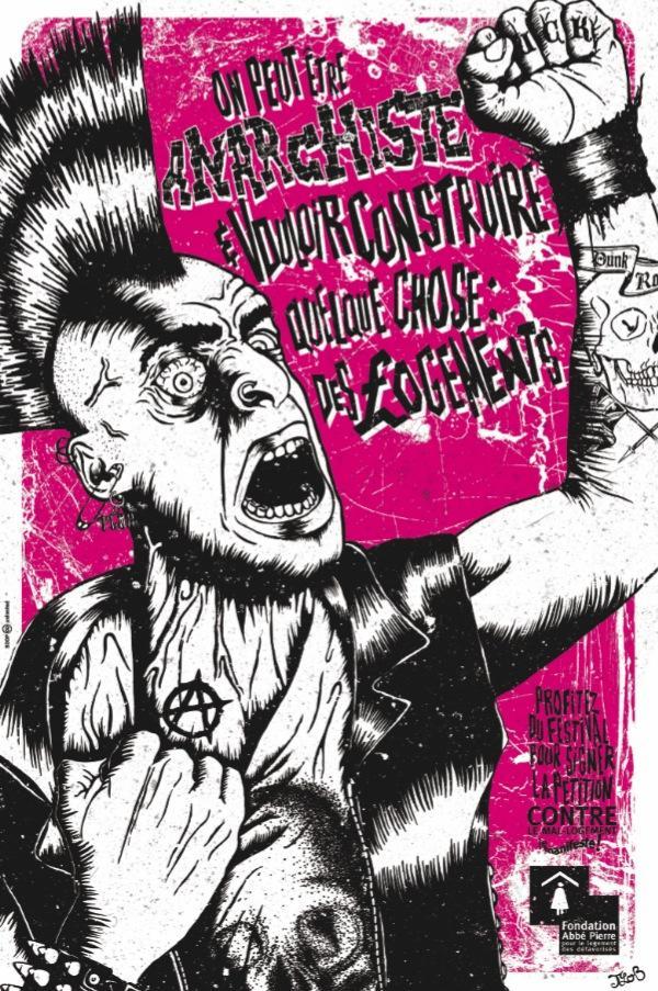 Fondation Abbé Pierre Print Ad -  Rock on, 7