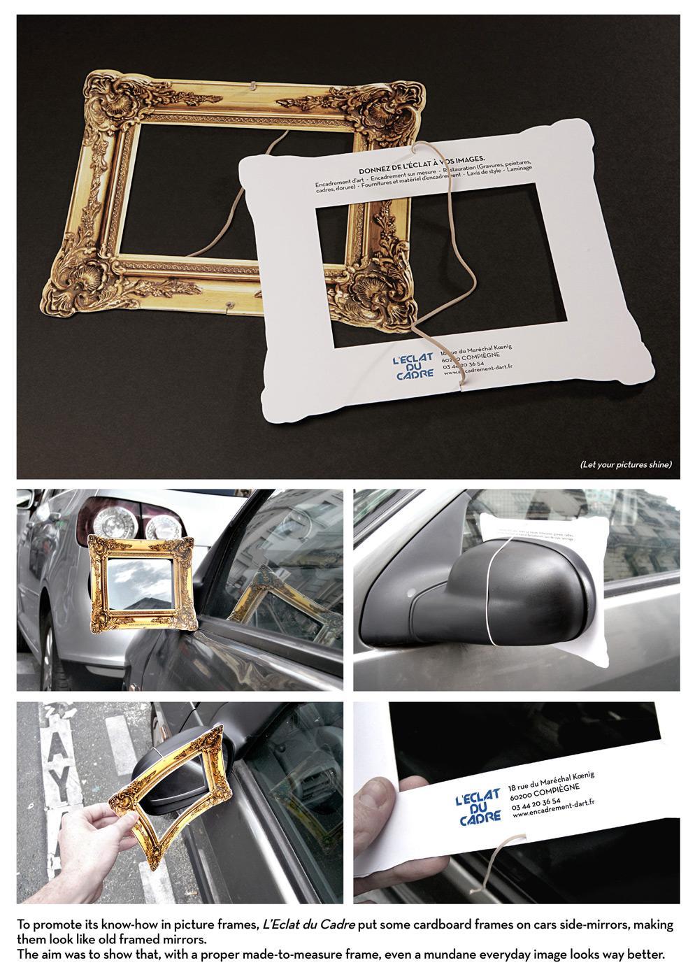 Eclat du Cadre Ambient Ad -  The frame guerilla