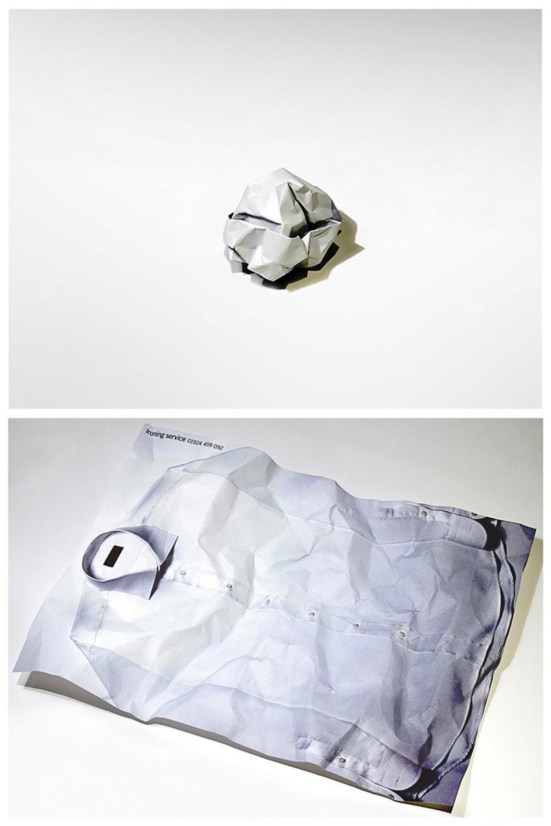 Crumpled mailer