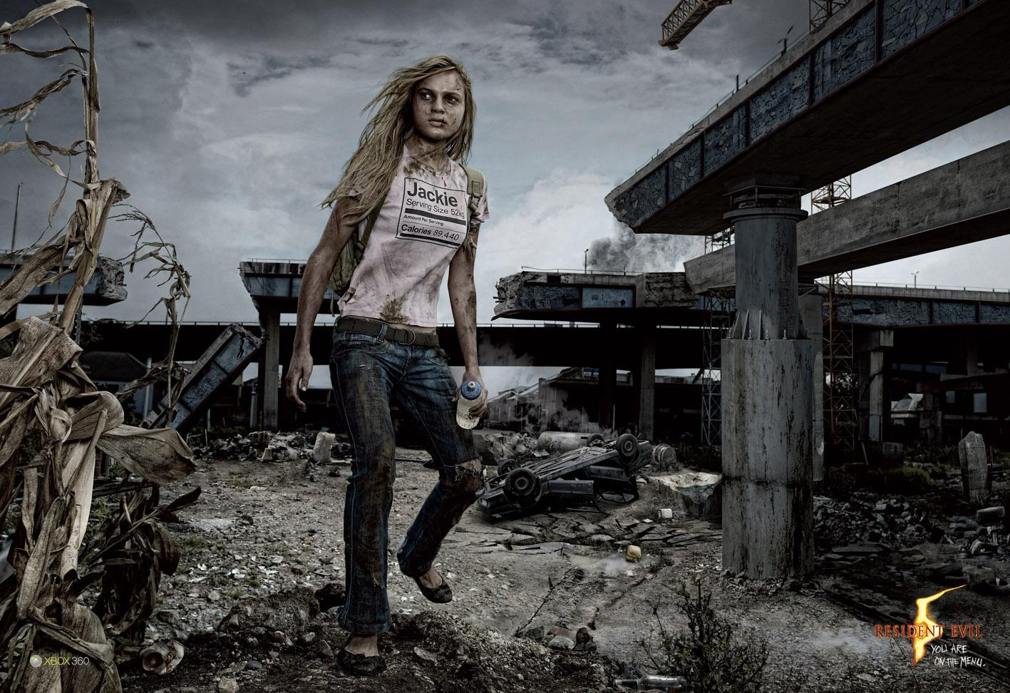 Resident Evil Print Ad -  Jackie