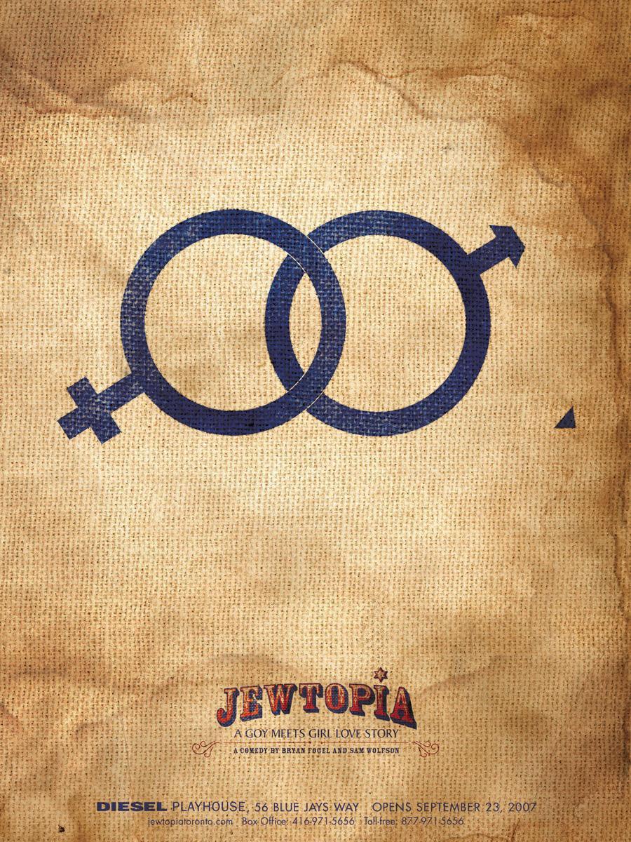 Jewtopia Print Ad -  Circum symbol