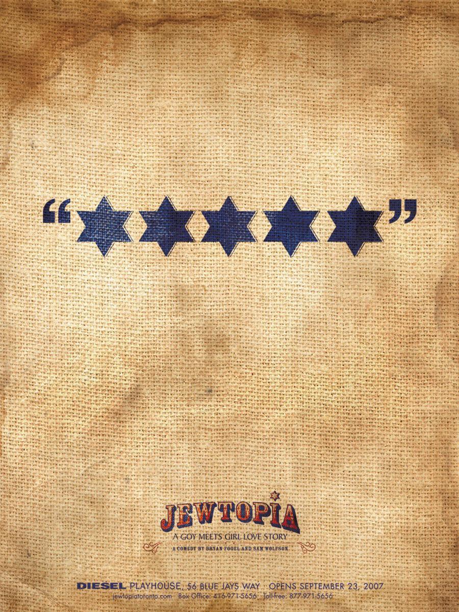 Jewtopia Print Ad -  Stars