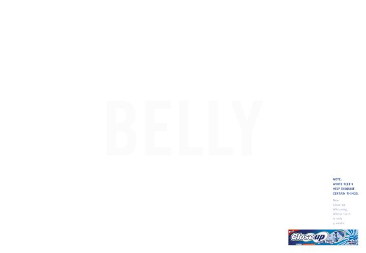Close Up Print Ad -  Belly