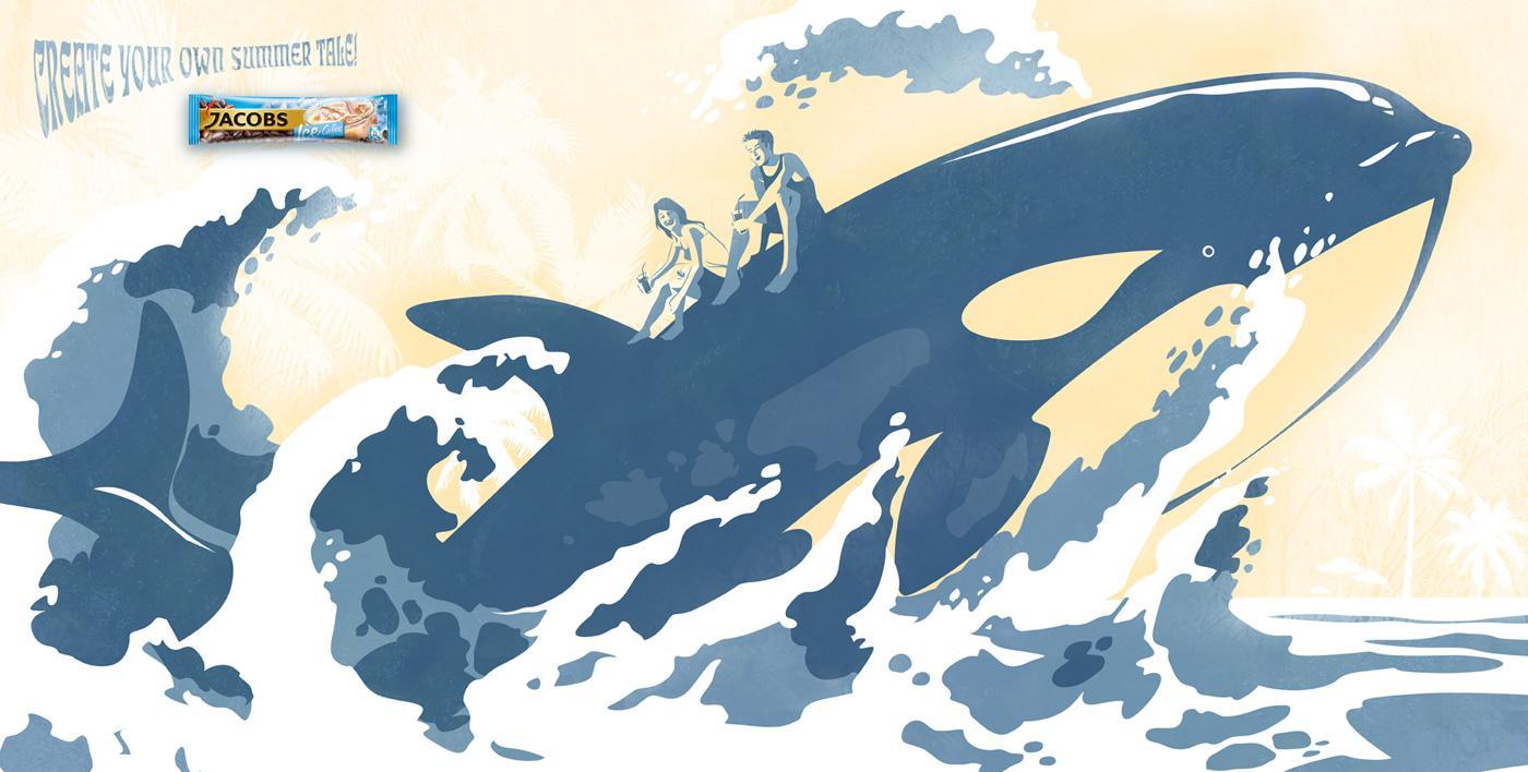Jacobs Print Ad -  Whale