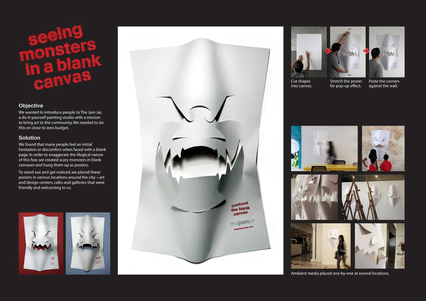 TheJamJar Ambient Ad -  Seeing monsters in a blank canvas