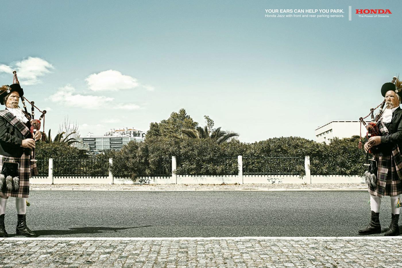 Honda Print Ad -  Bag piper