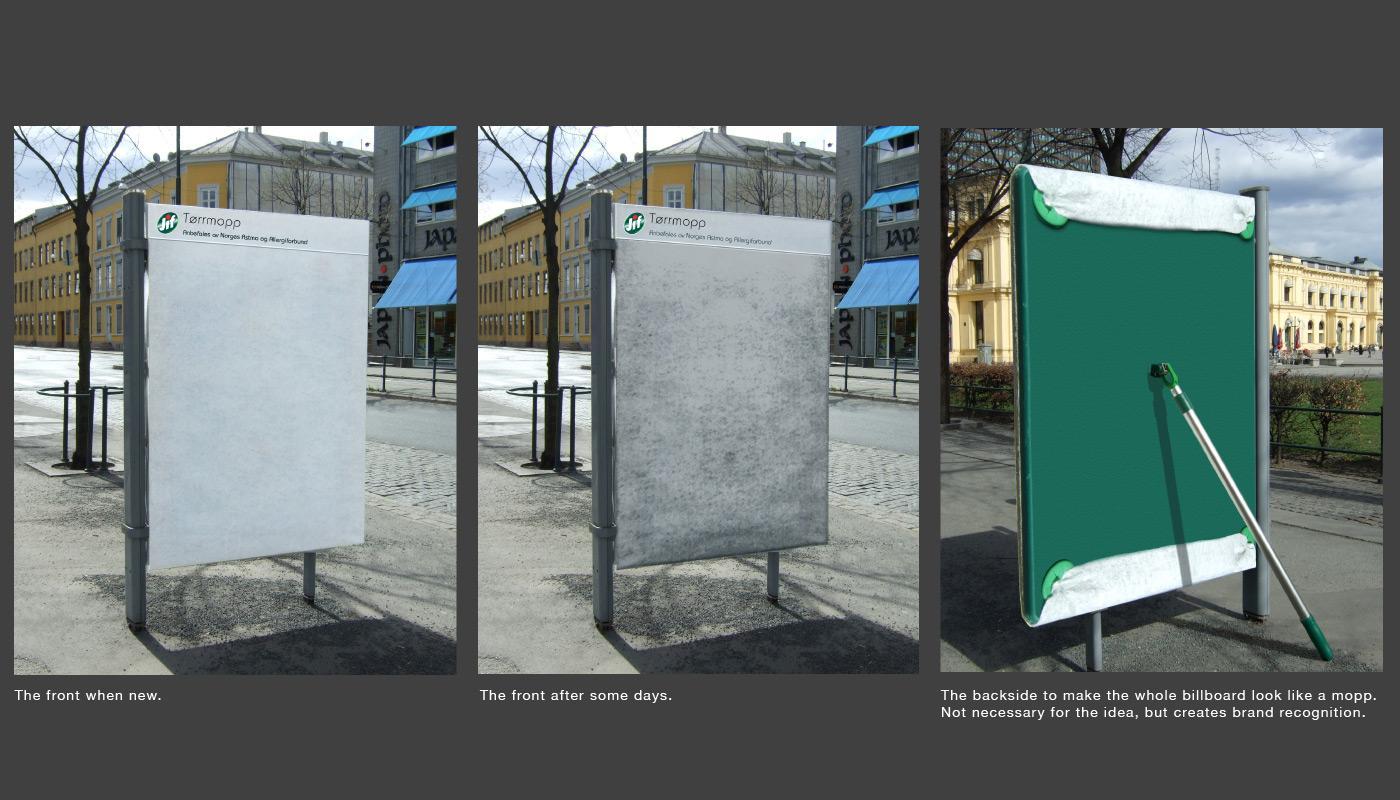 Jif Mopp Ambient Ad -  Dirty board
