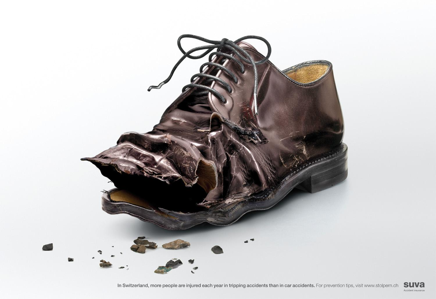Suva Print Ad -  Brown shoe