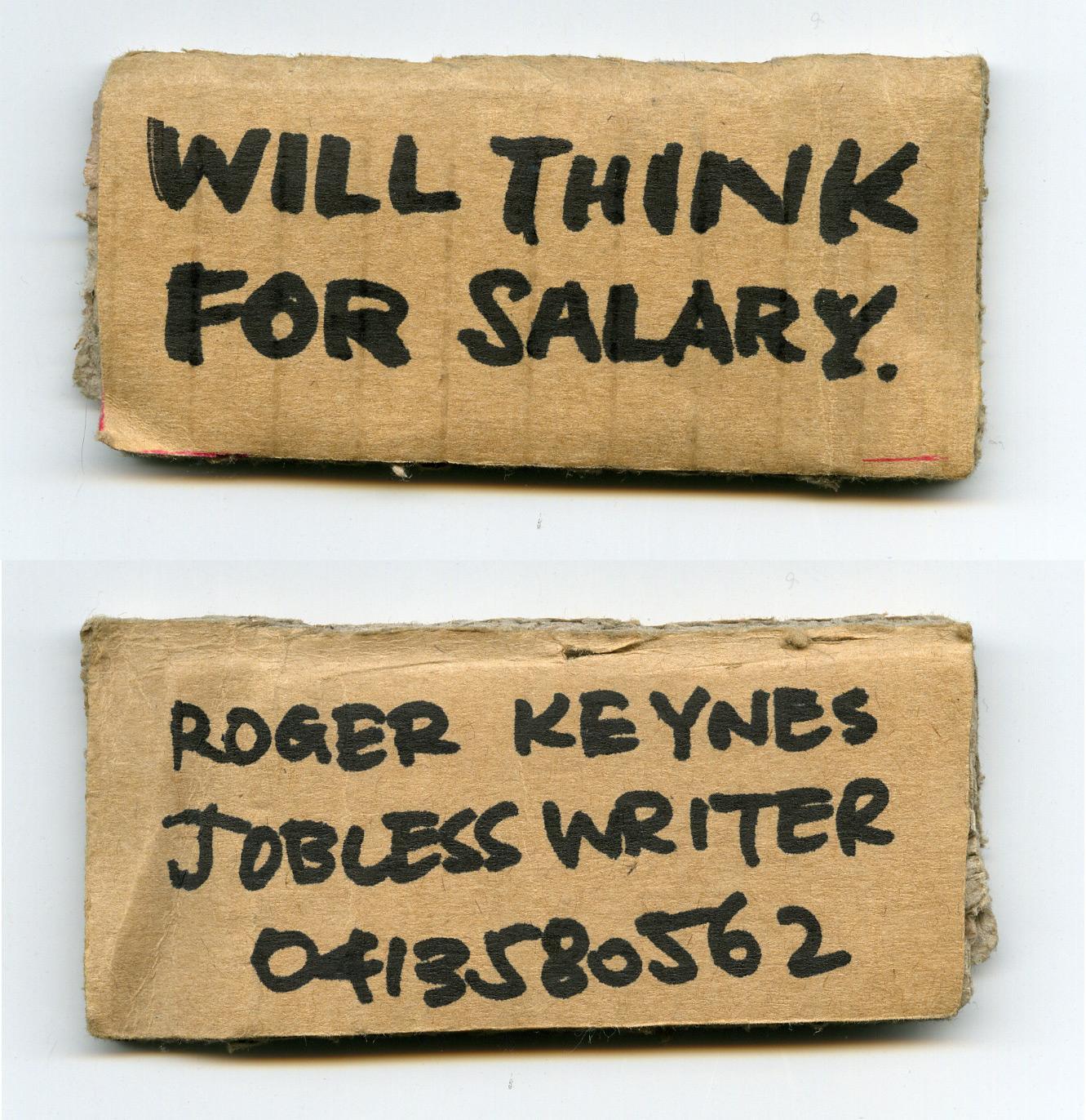 Jobless Writer