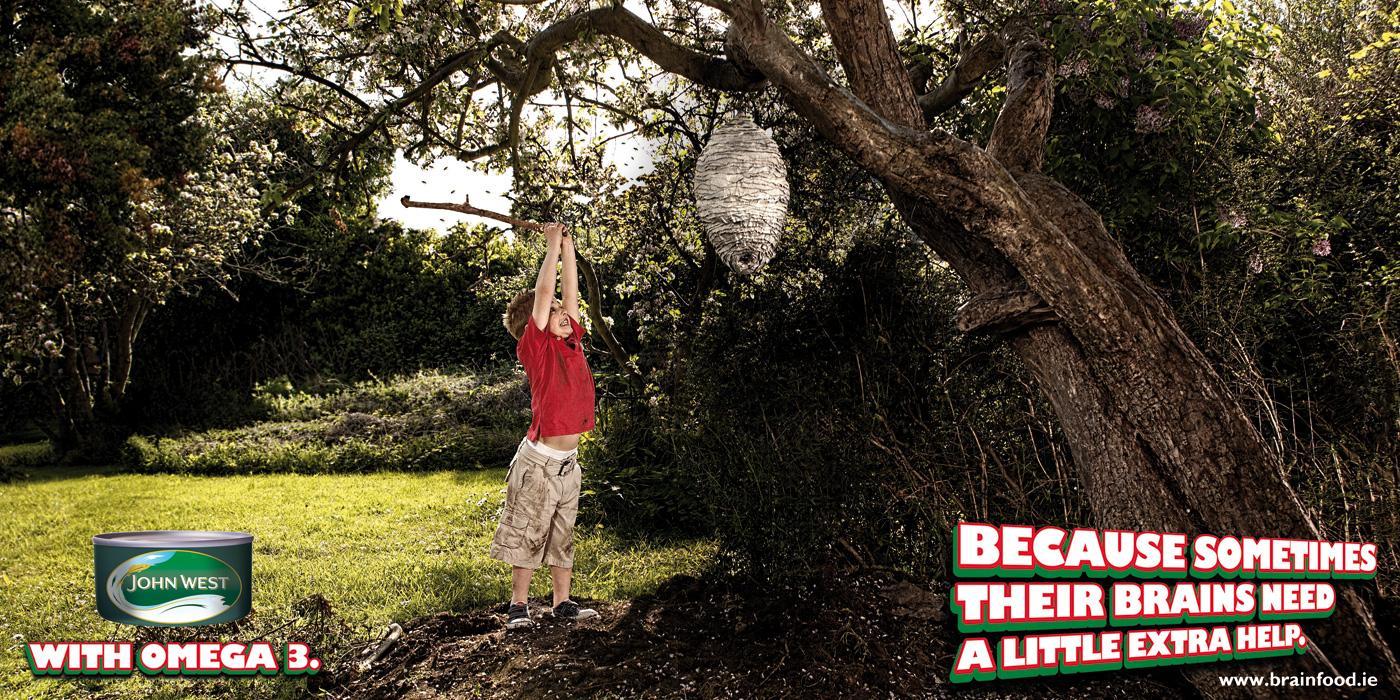 John West Print Ad -  Beehive