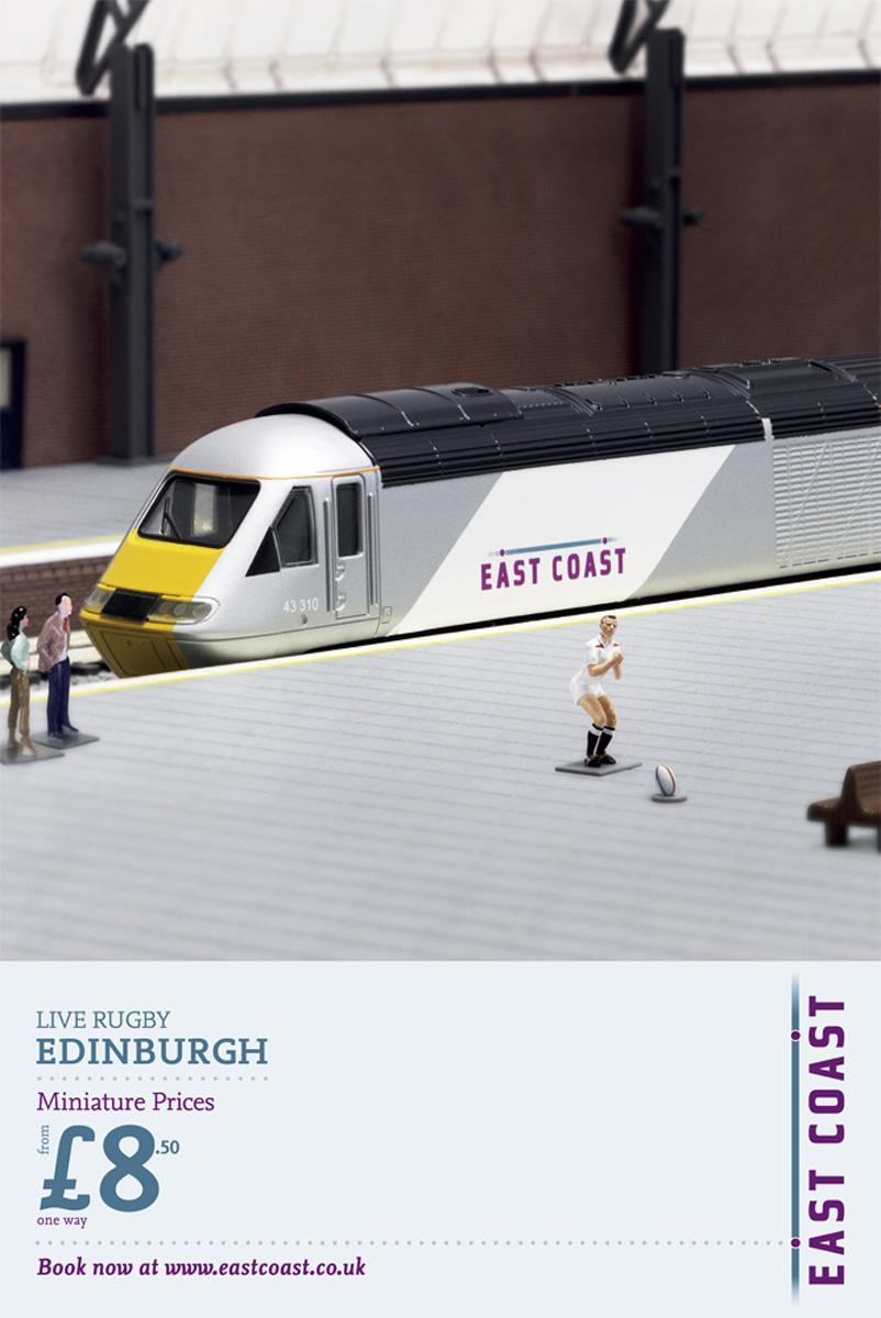 East Coast Trains Print Ad -  Miniature Prices, Johnny