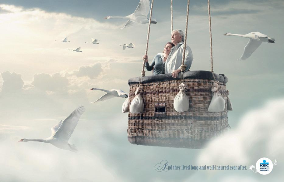 KBC Print Ad -  And they lived long and well-insured ever after, 3