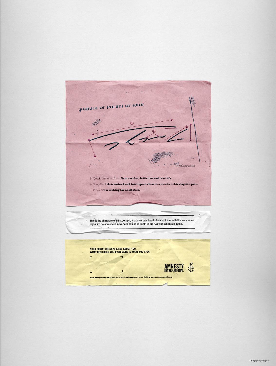 Amnesty International Print Ad -  Kim