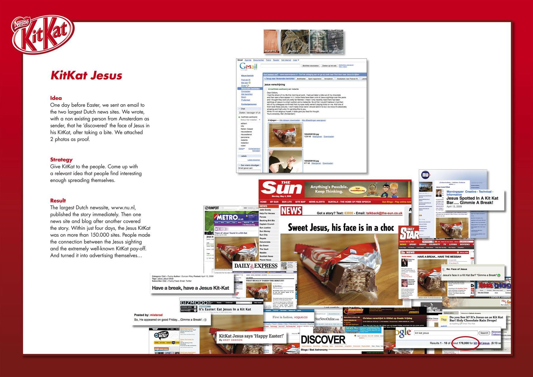 Kit Kat Ambient Ad -  Jesus