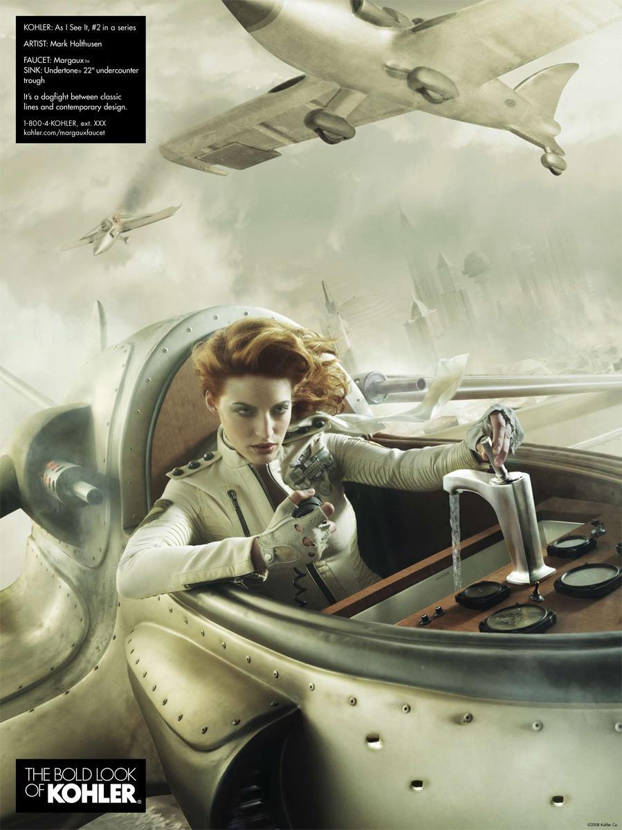 Kohler Print Ad -  Plane