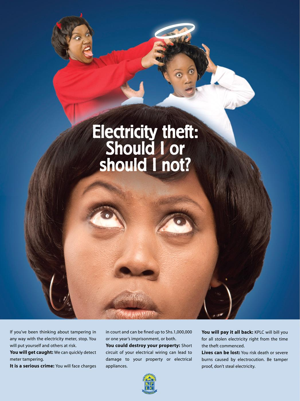 Kenya Power and Lighting Company Print Ad -  Should