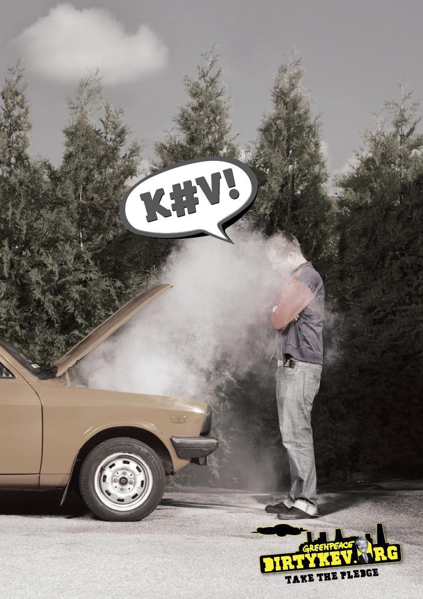 Greenpeace Print Ad -  Dirty Kev, Car