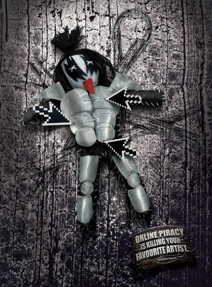 Rhythm House Print Ad -  Kiss Voodoo