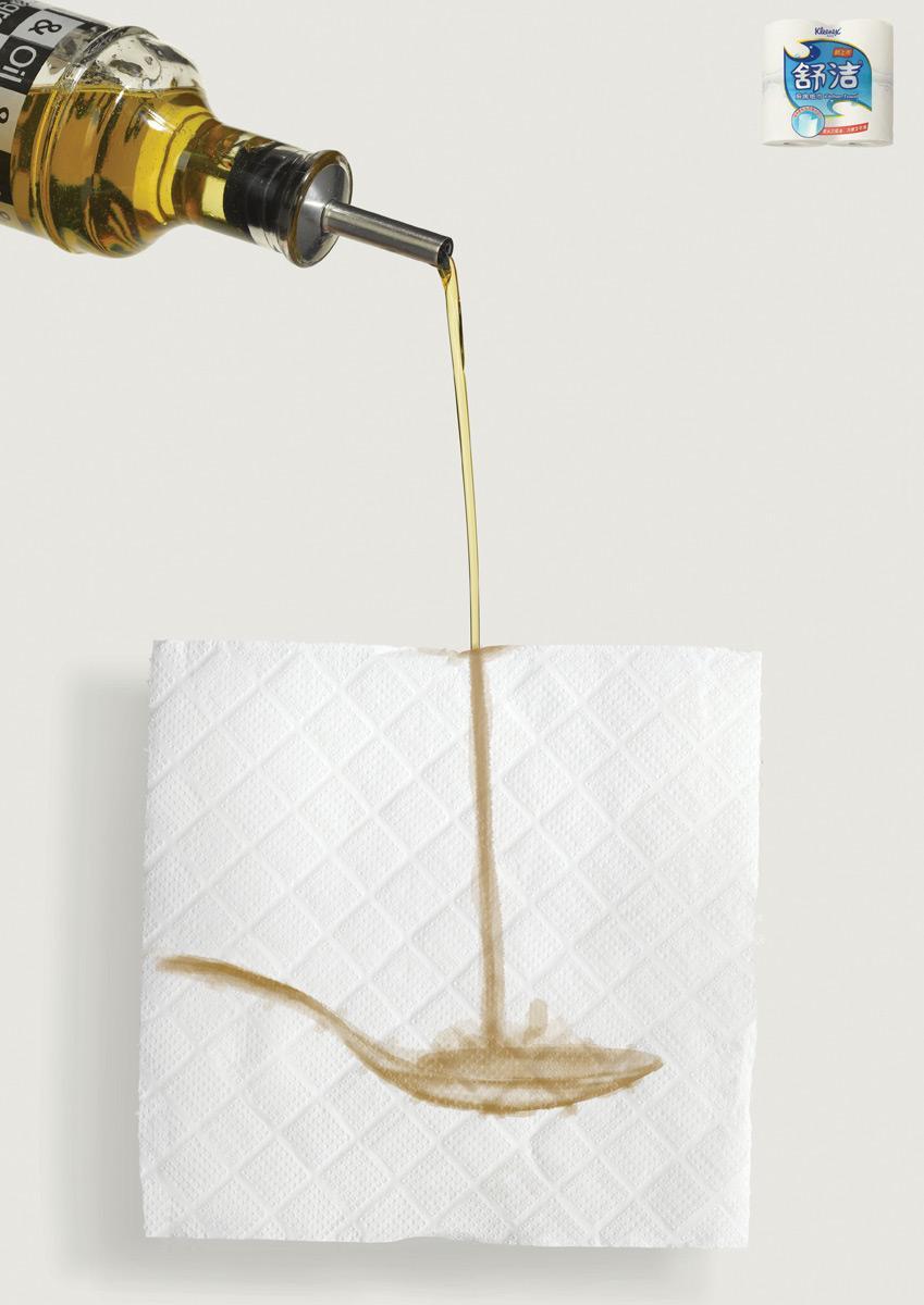 Kleenex Print Ad -  Spoon