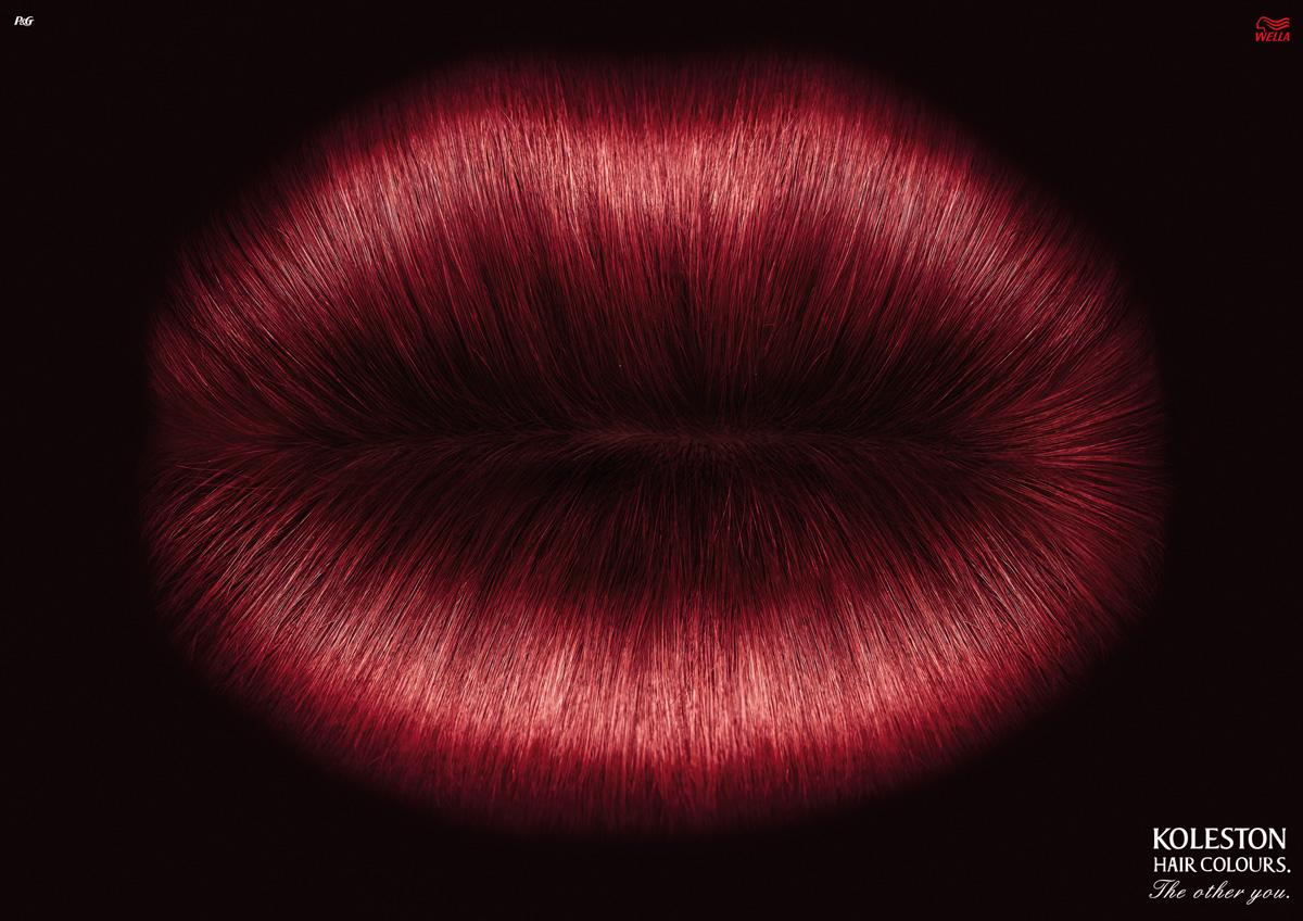 Koleston Print Ad -  Lips