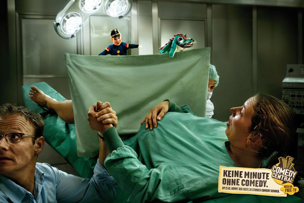 Comedy Central Print Ad -  Delivery room