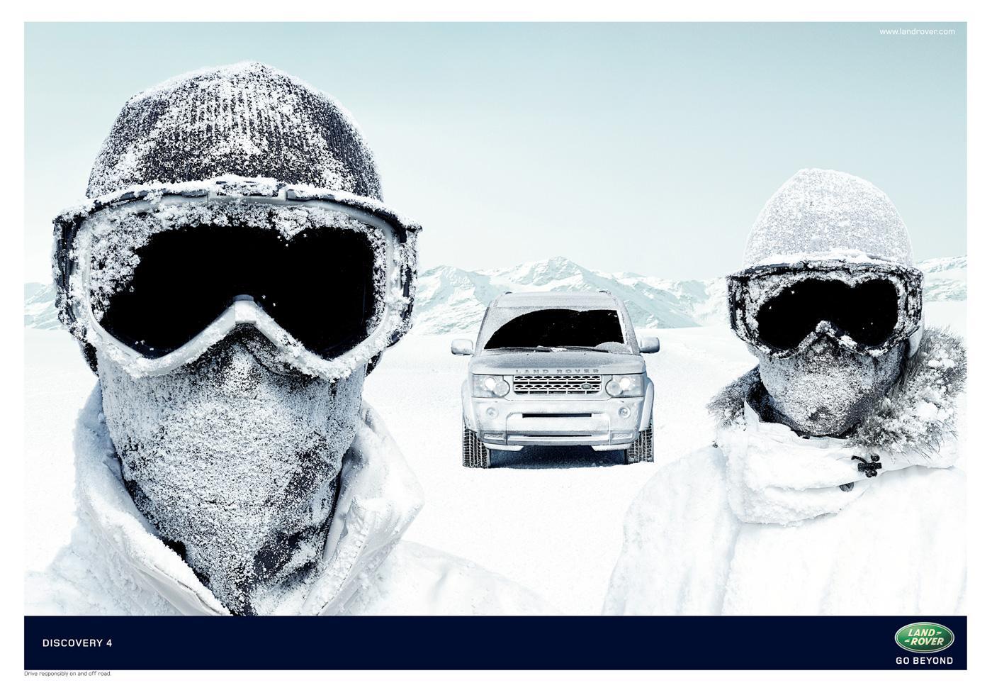 Land Rover Print Ad -  Goggles