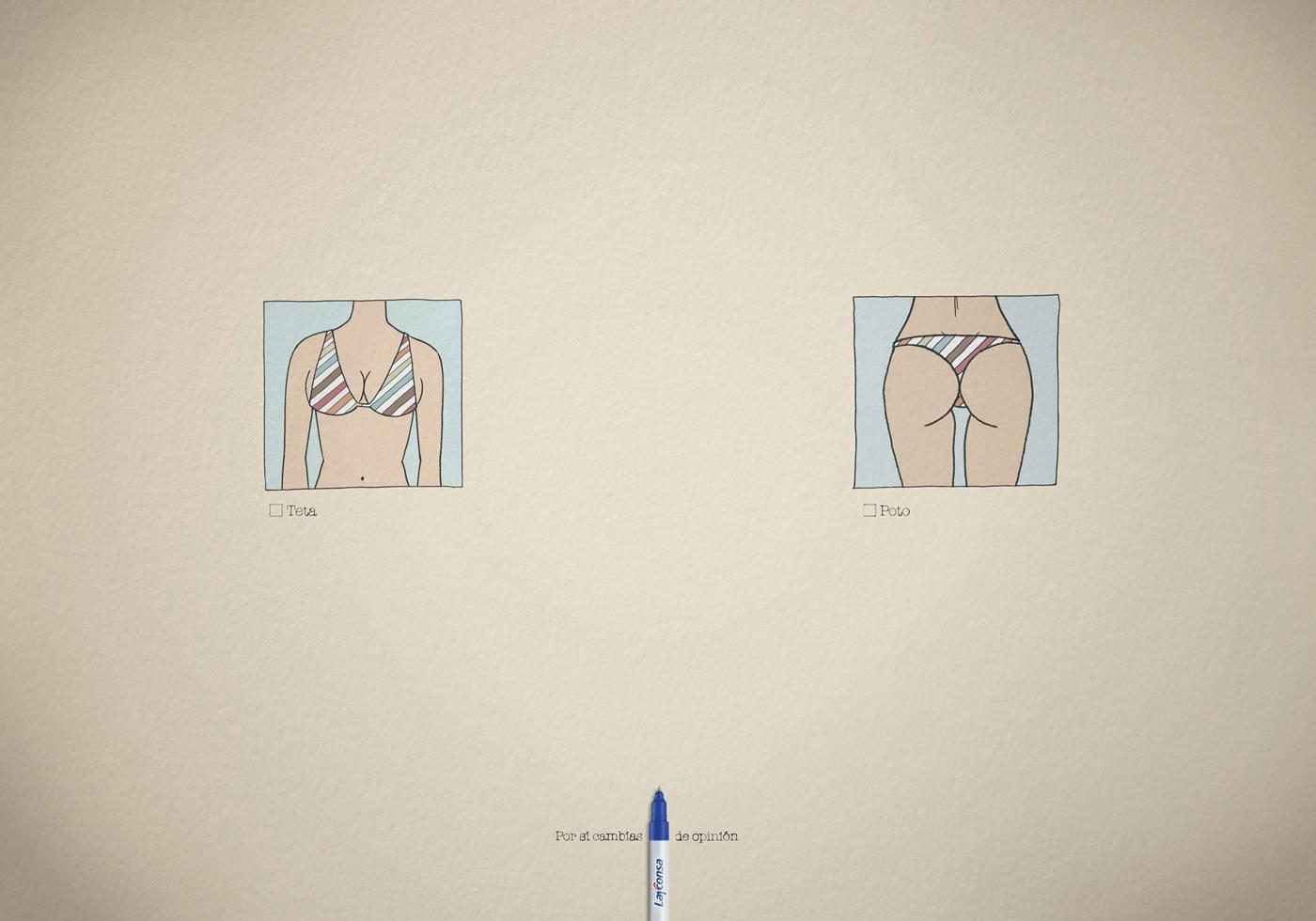 Layconsa Print Ad -  Front vs Back