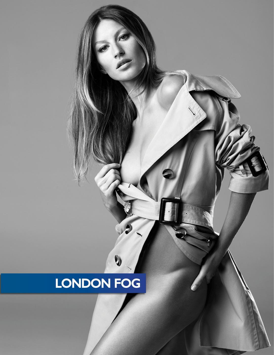 London Fog Print Ad -  Gisele Bündchen, 2