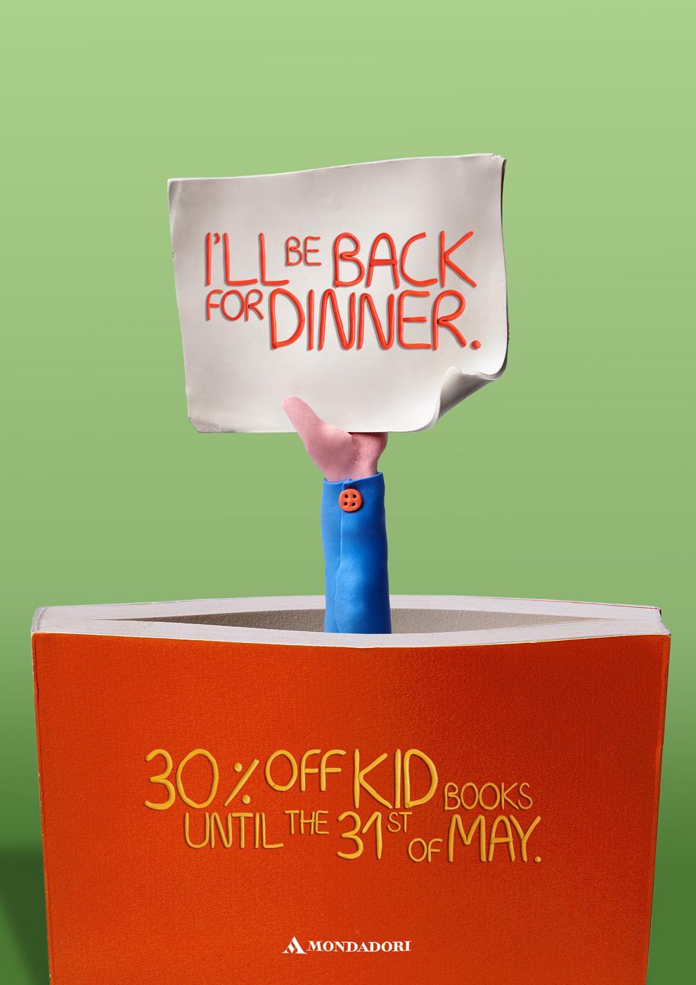 Mondadori Print Ad -  Dinner