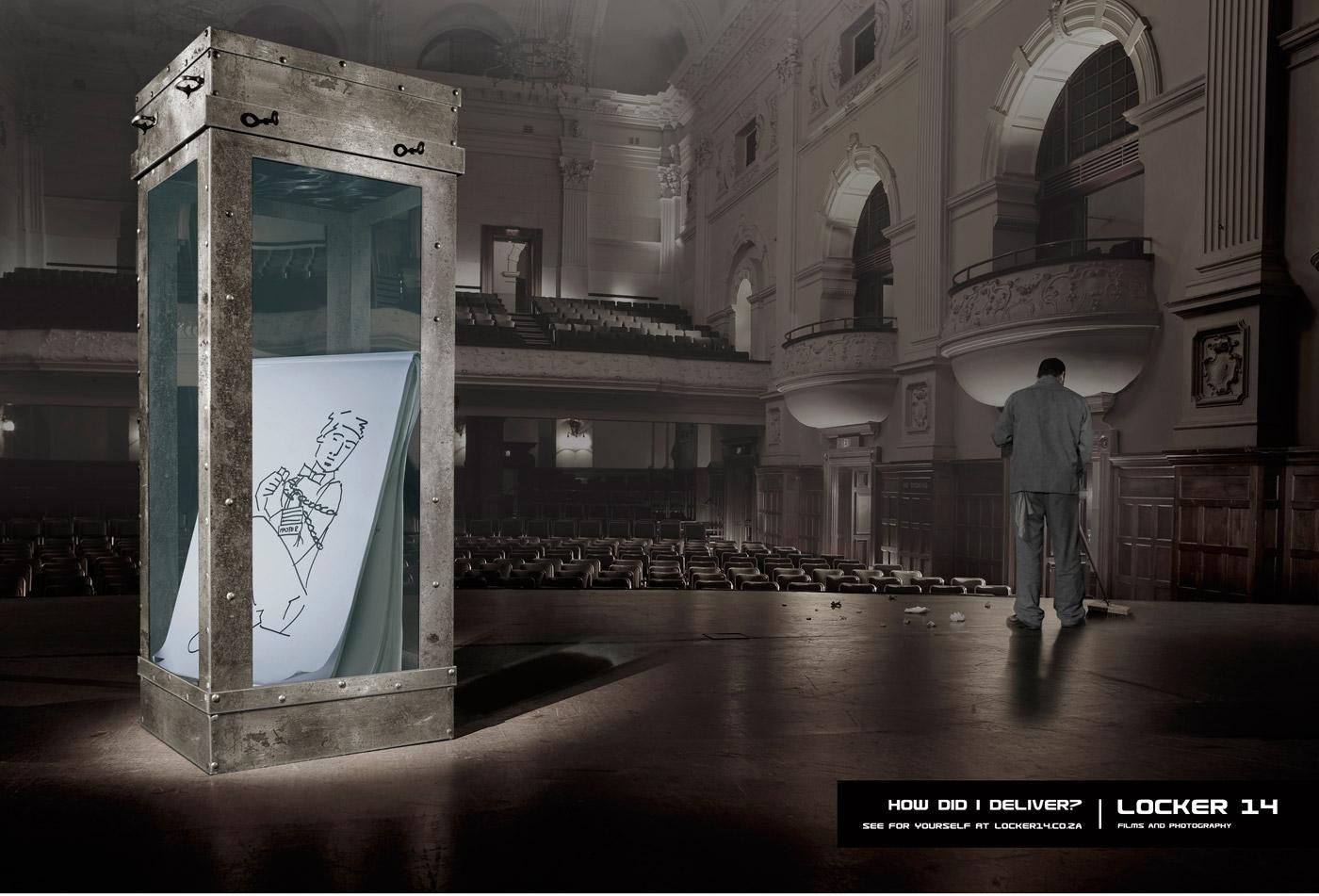 Locker 14 Print Ad -  Houdini