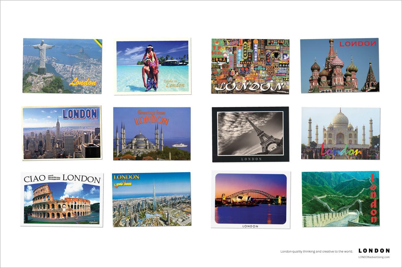 London advertising Print Ad -  Postcards