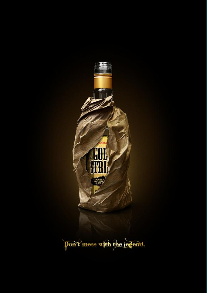 Goldstrike Print Ad -  Don't mess with the legend, Brown bag