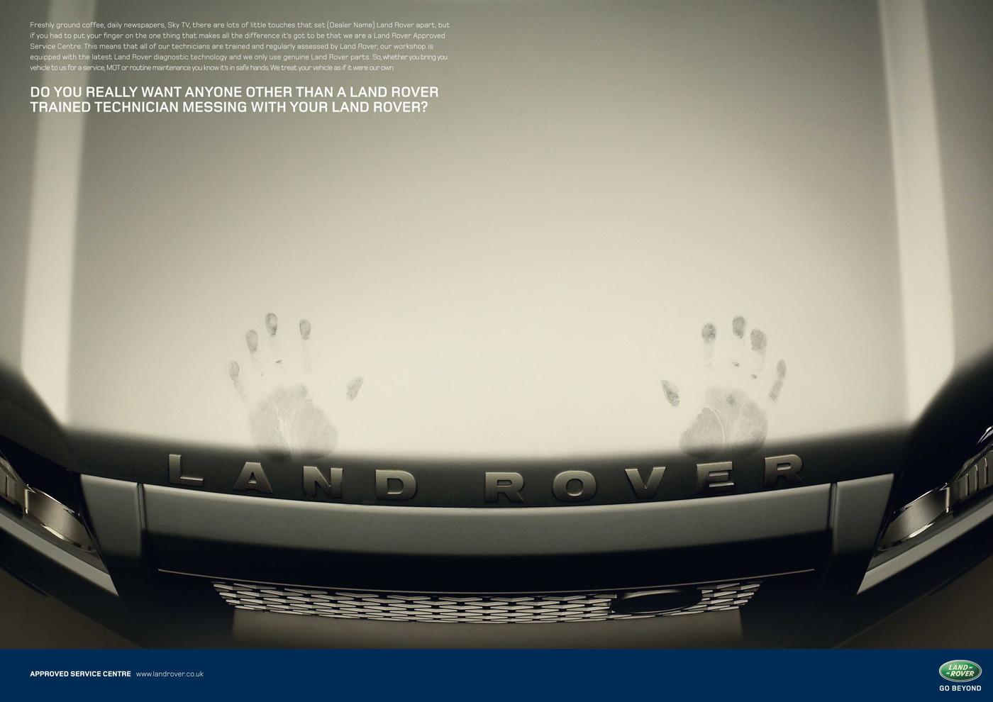 Land Rover Print Ad -  Bonnet