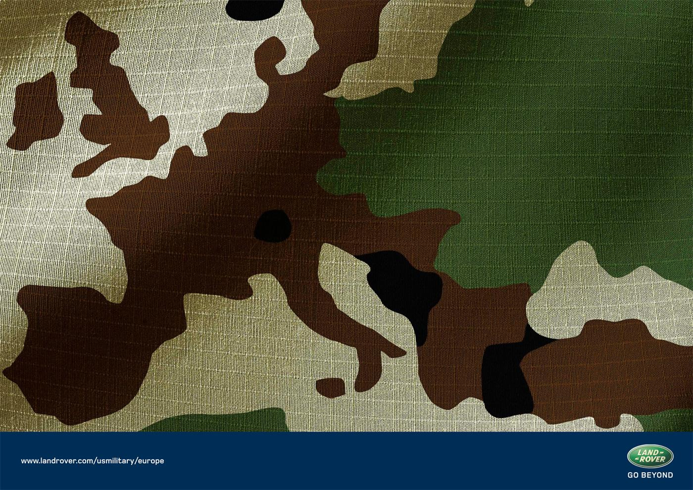 Land Rover Print Ad -  Camouflage